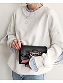 tanie Damskie bluzy z kapturem-Damskie Szczupła Spodnie - Kolorowy blok Biały / Półgolf / Wyjściowe