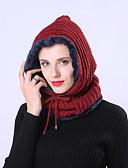 billige Halstørklæder til kvinder-Dame Basale / Ferie Blød Hat Flettet, Ensfarvet