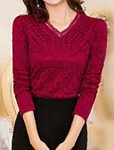 billige T-skjorter til damer-kvinner går ut t-skjorte - solid farget v-hals