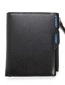 abordables Chaquetas y Abrigos de Hombre-Hombre Bolsos PU Billeteras Cremallera / En Relieve Color sólido Azul Piscina / Negro