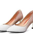 tanie Kwarcowy-Damskie Komfortowe buty Zamsz / Mikrowłókno Wiosna Szpilki Szpilka Biały / Czarny