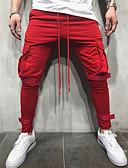 tanie Męskie spodnie i szorty-Męskie Podstawowy / Moda miejska Typu Chino / Spodnie dresowe Spodnie Solidne kolory