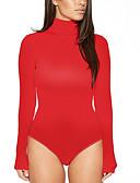 זול חליפת גוף-אחיד בסיסי חליפת גוף - בגדי ריקוד נשים