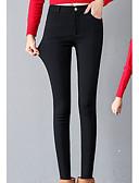 baratos Blusas Femininas-Mulheres Diário Esportivo Legging - Sólido Cintura Alta