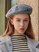 tanie Damskie czapki i kapelusze-Damskie Vintage / Impreza Beret / Melonik / Fedora Solidne kolory