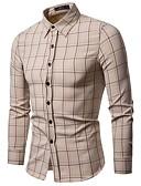 abordables Corbatas y Pajaritas para Hombre-Hombre Básico Camisa A Cuadros