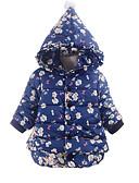 levne Dětské bundičky a kabátky-Dítě Dívčí Základní Denní Jednobarevné Dlouhý rukáv Krátké Bavlna Bundičky a kabáty Vodní modrá / Toddler