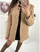 cheap Women's Leather & Faux Leather Jackets-Women's Holiday Street chic Regular Faux Fur Coat, Solid Colored Turndown Long Sleeve Lamb Fur Gray / Fuchsia / Khaki L / XL / XXL
