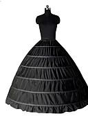 billige Leker og hobbyer-Prinsesse Underskjørt Tutu Under skjørt Classic Lolita 1950-tallet Gotisk Svart Hvit Underskjørt / Kostymer i middelalderstil / crinoline