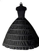 cheap Petticoats-Princess Petticoat Hoop Skirt Tutu Under Skirt Classic Lolita 1950s Gothic Black Petticoat / Medieval / Crinoline