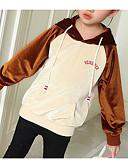 billige Babykjoler-Baby Jente Grunnleggende Fargeblokk Langermet Normal Polyester Hettegenser og sweatshirt Brun