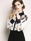 baratos Camisas Femininas-Mulheres Blusa Básico Floral