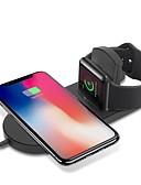 billige Kabler og Lader til mobiltelefon-cwxuan trådløs lader med USB kabel qc 3.0 hurtig lader for Apple Watch 4/3/2/1 / iphone xs / max / xr / x / 8 / plus