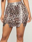 baratos Vestidos Estampados-Mulheres Moda de Rua Bodycon Saias - Leopardo