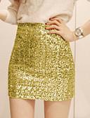 povoljno Ženske suknje-Žene Bodycon Suknje - Jednobojni Šljokice
