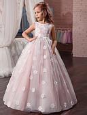 Χαμηλού Κόστους Φορέματα για κορίτσια-Παιδιά Κοριτσίστικα Βασικό Μονόχρωμο / Φλοράλ Αμάνικο Ρεϊγιόν / Πολυεστέρας Φόρεμα Μπεζ
