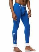 זול תחתוני גברים אקזוטיים-גברים פוליאסטר רגיל / מגע כותנה של תחושה ג 'ונס ארוך מוצק צבע באמצע המותניים