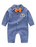 お買い得  赤ちゃん ウェアセット 男の子用-赤ちゃん 男の子 ベーシック ストライプ 長袖 コットン / ポリエステル オーバーオール&ジャンプスーツ ブルー / 幼児