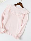 halpa Tyttöjen mekot-Taapero Tyttöjen Aktiivinen Päivittäin Yhtenäinen Pitkähihainen Normaali T-paita Musta
