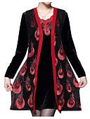 ieftine Print Dresses-Pentru femei Mărime Plus Size Petrecere De Bază Teacă Rochie Mată Geometric De Pe Umăr Talie Înaltă Sub Genunchi / Sexy