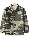 billige Hettegensere og gensere til gutter-Barn Jente Gatemote Lapper Langermet Normal Polyester Jakke og frakk Militærgrønn