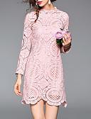 baratos Vestidos Femininos-Mulheres Básico / Elegante Algodão Calças - Sólido Guarnição do laço Preto