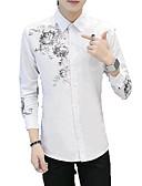 billige Herreskjorter-Skjorte Herre - Geometrisk Grunnleggende