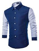 tanie Męskie marynarki i garnitury-Koszula Męskie Podstawowy Kolorowy blok