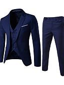 זול הינומות חתונה-אחיד דש קלאסי רזה סגנון רחוב עסקים פורמלי חליפות-בגדי ריקוד גברים / שרוול ארוך / עבודה