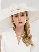 preiswerte Abendkleider-100% Leinen Kentucky Derby-Hut / Hüte mit Schleife 1pc Hochzeit / Party / Abend Kopfschmuck