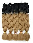 """זול שמלות נשף-שיער קלוע מתולתל תחושות סינתטיות שיער סינטטי 5 חלקים שיער צמות חום 24 אִינְטשׁ 23 1/2""""60 ס""""מ סינטטי צבע בהדרגה מכירה חמה חג מולד לבוש ליום לבוש יומיומי צמות אפריקאיות"""