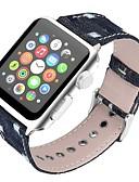 olcso Karóra tartozékok-Valódi bőr Nézd Band Szíj mert Apple Watch Series 4/3/2/1 Fekete / Kék / Barna 23cm / 9 inch 2.1cm / 0.83 Hüvelyk
