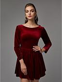 preiswerte Cocktailkleider-A-Linie Bateau Kurz / Mini Samt Cocktailparty Kleid mit durch TS Couture®