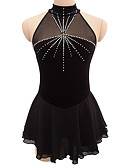 cheap Ice Skating Dresses , Pants & Jackets-Figure Skating Dress Women's / Girls' Ice Skating Dress Black Open Back Spandex Competition Skating Wear Sequin Sleeveless Figure Skating