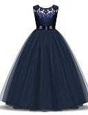 Χαμηλού Κόστους Φορέματα για κορίτσια-Παιδιά / Νήπιο Κοριτσίστικα Ενεργό / Γλυκός Καθημερινά / Αργίες Μονόχρωμο Φιόγκος / Πλισέ / Δίχτυ Αμάνικο Μίντι Πολυεστέρας Φόρεμα Βαθυγάλαζο