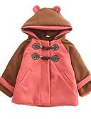 povoljno Jakne i kaputi za djevojčice-Djeca Djevojčice Aktivan Color block Dugih rukava Pamuk Pernata i pamučna podstava Blushing Pink