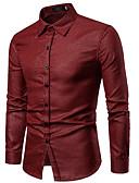 billige Herreskjorter-Skjorte Herre - Ensfarget / Rutet Grunnleggende