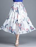 tanie Damska spódnica-Damskie Aktywny Swing Spódnice Geometric Shape / Kolorowy blok