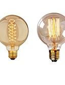 billige Eksotisk herreundertøy-2pcs 40 W E26 / E27 G95 Varm hvit 2200-2700 k Kontor / Bedrift / Mulighet for demping / Dekorativ Glødende Vintage Edison lyspære 220-240 V