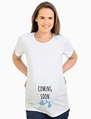 abordables Tops-camiseta de mujer - cuello redondo de dibujos animados