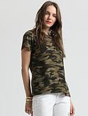 economico Maglie donna-T-shirt Per donna Essenziale Con stampe, Camouflage Verde militare XL / Taglia piccola