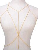 hesapli Trendi Takılar-Kadın's madeni / Bikini Vücut Zinciri Solid