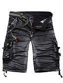 abordables Pantalones para Mujer-Hombre Chic de Calle Vaqueros Pantalones - Un Color Negro