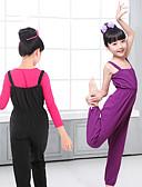hesapli Maksi Elbiseler-Bale Kostümler Genç Kız Eğitim / Performans Elastane / Likra Gore Kolsuz Strenç Dansçı / Tulum