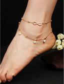 abordables Joyas de Moda-Mujer Legierung Bracelet de cheville - Europeo / Moda