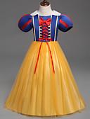 Χαμηλού Κόστους Φορέματα για κορίτσια-Πριγκίπισσα Στολές Ηρώων Παιδικά Κοριτσίστικα Φορέματα Mesh Χριστούγεννα Halloween Απόκριες Γιορτές / Διακοπές Τούλι Πολυεστέρας Κίτρινο Αποκριάτικα Κοστούμια Πριγκίπισσα