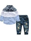 ieftine Seturi Îmbrăcăminte Băieți-Copii Băieți De Bază Zilnic Mată Manșon Lung Regular Regular Bumbac / Poliester Set Îmbrăcăminte Roz Îmbujorat