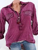 cheap Women's Sweaters-Women's Basic Shirt - Geometric Ruffle / Fashion Shirt Collar / Spring / Summer / Fall / Winter