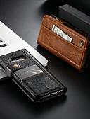 povoljno iPhone maske-Θήκη Za Samsung Galaxy S8 Novčanik / Utor za kartice / sa stalkom Korice Jednobojni Tvrdo PU koža