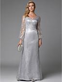 preiswerte Abendkleider-Eng anliegend V-Ausschnitt Boden-Länge Pailletten Formeller Abend Kleid mit Paillette durch TS Couture®